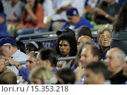 Купить «Celebrities attend the Los Angeles Dodgers v St. Louis Cardinals baseball game held at Dodger Stadium. The Dodgers dfeated the Cardinals by a final score...», фото № 15353218, снято 26 июня 2014 г. (c) age Fotostock / Фотобанк Лори