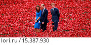 Купить «Princes William and Harry, accompanied by Catherine Duchess of Cambridge visit the Poppy installation at the Tower of London Featuring: Prince William...», фото № 15387930, снято 5 августа 2014 г. (c) age Fotostock / Фотобанк Лори