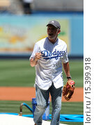 Купить «Celebrities attend the Los Angeles Dodgers game. The Milwaukee Brewers defeated the Los Angeles Dodgers by the final score of 7-2 at Dodger Stadium. Featuring...», фото № 15399918, снято 17 августа 2014 г. (c) age Fotostock / Фотобанк Лори