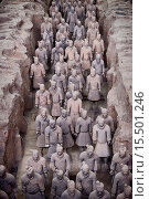Купить «Qin Terracotta Warriors, Terra Cotta Army in a museum in Xi´an, Shaanxi, China 2014.», фото № 15501246, снято 23 октября 2014 г. (c) age Fotostock / Фотобанк Лори