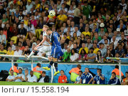 Купить «2014 FIFA World Cup Final - Germany (0) v (0) Argentina (1-0 AET), held at the Maracana Stadium (Estadio Maracana) Featuring: Mascherano Where: Rio de...», фото № 15558194, снято 13 июля 2014 г. (c) age Fotostock / Фотобанк Лори