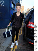 Купить «X Factor final contestants arrive at music studio rehearsals. Featuring: Charlie George,Only the Young Where: London, United Kingdom When: 11 Nov 2014 Credit: WENN.com», фото № 15719494, снято 11 ноября 2014 г. (c) age Fotostock / Фотобанк Лори