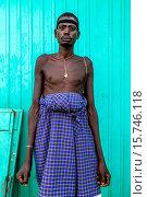Купить «Portrait Of A Man From The Mursi Tribe, Jinka, Omo Valley, Ethiopia.», фото № 15746118, снято 14 января 2015 г. (c) age Fotostock / Фотобанк Лори