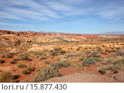Купить «looking out over the rainbow vista in the valley of fire state park nevada usa.», фото № 15877430, снято 9 декабря 2012 г. (c) age Fotostock / Фотобанк Лори