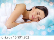 Купить «beautiful woman sleeping in bed», фото № 15991862, снято 23 ноября 2013 г. (c) Syda Productions / Фотобанк Лори