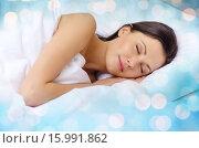 beautiful woman sleeping in bed. Стоковое фото, фотограф Syda Productions / Фотобанк Лори