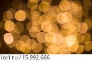 Купить «blurred golden lights bokeh», фото № 15992666, снято 20 ноября 2015 г. (c) Syda Productions / Фотобанк Лори