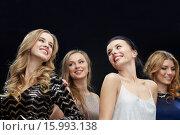 Купить «happy young women dancing at night club disco», фото № 15993138, снято 21 ноября 2015 г. (c) Syda Productions / Фотобанк Лори