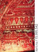 Купить «Detail of painting on the ceiling and corridor wall. Ananda Okkyaung interior. Pagan, Burma.», фото № 15995542, снято 8 июля 2020 г. (c) age Fotostock / Фотобанк Лори