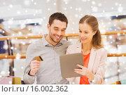 Купить «couple with tablet pc and credit card shopping», фото № 16002362, снято 10 ноября 2014 г. (c) Syda Productions / Фотобанк Лори