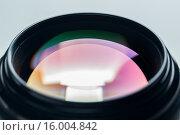 Купить «close up of camera lens», фото № 16004842, снято 11 ноября 2015 г. (c) Syda Productions / Фотобанк Лори
