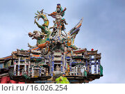 Купить «Quan Am Pagoda, Cholon, Ho Chi Minh City (Saigon), Vietnam.», фото № 16026254, снято 6 августа 2014 г. (c) age Fotostock / Фотобанк Лори