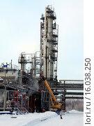 Купить «Russia, Khanty-Mansi Autonomous Okrug-Yugra. Refinery. City Nizhnevartovsk.», фото № 16038250, снято 14 ноября 2019 г. (c) age Fotostock / Фотобанк Лори