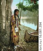 Купить «Minnesota: 1904.A photochrome of Minnehaha as she awaits the arrival of Hiawatha.», фото № 16081394, снято 7 августа 2020 г. (c) age Fotostock / Фотобанк Лори