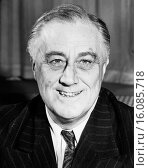 Washington, D.C.: November 20, 1943.A portrait of President Franklin D. Roosevelt. Редакционное фото, фотограф Underwood Archives / age Fotostock / Фотобанк Лори