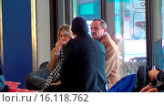 Goetz Elbertzhagen and his girlfriend Lydia in a conversation with... (2015 год). Редакционное фото, фотограф WENN.com / age Fotostock / Фотобанк Лори