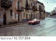 Pierrot lo Piccolo-Salvatore Sutero's Alfa Romeo Giulia TZ, finished 28th in the Targa Florio, Sicily 8 May 1966. Стоковое фото, фотограф GP Library \ UIG / age Fotostock / Фотобанк Лори