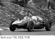 Gino Munaron driving No 22, a Cooper T51-Ferrari, Scuderia Castellotti in the III Silver City Trophy finishing 13th in the inaugural race meeting on Brands... Стоковое фото, фотограф GP Library \ UIG / age Fotostock / Фотобанк Лори