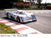 The Emka Aston Martin built by Michael Cane in Godalming for Pink Floyd manager Steve O'Rourke. Tiff Needell-Nick Faure-Steve O'Rourke's EMKA C84-1. Le Mans, France 16 June 1985. Стоковое фото, фотограф GP Library \ UIG / age Fotostock / Фотобанк Лори