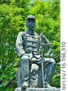 Купить «Japan, Kyushu, Kumamoto Prefecture, Kumamoto, Statue at Takahashi Park.», фото № 16166910, снято 20 марта 2019 г. (c) age Fotostock / Фотобанк Лори