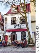 Купить «Ariel Restaurant at Kazimierz, the old Jewish district in Krakow, Poland, Europe.», фото № 16359434, снято 11 апреля 2015 г. (c) age Fotostock / Фотобанк Лори