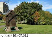 Купить «Декоративная мельница», эксклюзивное фото № 16407622, снято 20 сентября 2015 г. (c) Игорь Веснинов / Фотобанк Лори