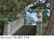 Купить «Лестница в парке Юсуповского дворца. Кореиз, Крым», фото № 16407714, снято 19 сентября 2014 г. (c) Наталья Гармашева / Фотобанк Лори
