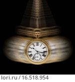 Купить «Pocket watch swinging against black», фото № 16518954, снято 15 января 2008 г. (c) easy Fotostock / Фотобанк Лори