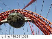 Купить «Живописный вантовый мост в Москве», фото № 16591038, снято 20 октября 2015 г. (c) Яременко Екатерина / Фотобанк Лори