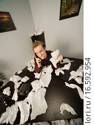 Купить «Businessman on phone with paper scattered», фото № 16592954, снято 3 августа 2020 г. (c) easy Fotostock / Фотобанк Лори