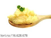 Купить «Kartoffelbrei auf Holzlöffel», фото № 16628678, снято 15 февраля 2009 г. (c) easy Fotostock / Фотобанк Лори