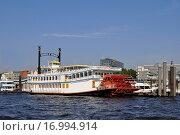 Купить «Mississippidampfer im Hamburger Hafen», фото № 16994914, снято 22 января 2019 г. (c) easy Fotostock / Фотобанк Лори