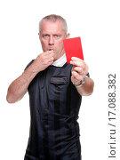Купить «Football referee showing the red card», фото № 17088382, снято 3 апреля 2020 г. (c) easy Fotostock / Фотобанк Лори