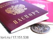 Купить «Паспорт гражданина России», фото № 17151538, снято 18 апреля 2014 г. (c) Сергеев Валерий / Фотобанк Лори