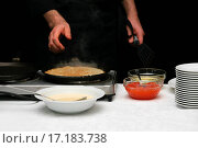 Купить «Pancakes with caviar», фото № 17183738, снято 17 июня 2019 г. (c) easy Fotostock / Фотобанк Лори