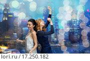 Купить «happy young women dancing at night club disco», фото № 17250182, снято 21 ноября 2015 г. (c) Syda Productions / Фотобанк Лори