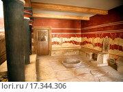 crete knossos throne hall. Стоковое фото, фотограф Iñigo Quintanilla / easy Fotostock / Фотобанк Лори