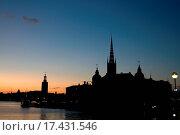 Купить «Silhouette of Stockholm», фото № 17431546, снято 14 декабря 2019 г. (c) easy Fotostock / Фотобанк Лори