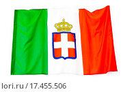 Купить «Flag of the Kingdom of Italy», фото № 17455506, снято 21 октября 2018 г. (c) easy Fotostock / Фотобанк Лори