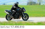 Купить «Black biker», фото № 17490810, снято 19 октября 2018 г. (c) easy Fotostock / Фотобанк Лори