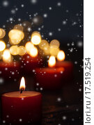 Купить «christmas winter xmas festive candles», фото № 17519254, снято 16 ноября 2019 г. (c) PantherMedia / Фотобанк Лори