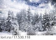 Купить «Winter landscape with snowy fir trees», фото № 17530118, снято 17 июня 2019 г. (c) PantherMedia / Фотобанк Лори