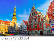 Купить «City Hall Square in the Old Town of Riga, Latvia», фото № 17533054, снято 19 июля 2018 г. (c) PantherMedia / Фотобанк Лори