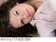 Купить «attractive thoughtful brunette curl woman», фото № 17625058, снято 19 июня 2019 г. (c) easy Fotostock / Фотобанк Лори
