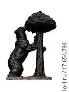 Купить «El Oso y el Madroño Bear and the Madroño Tree on a white background», фото № 17654794, снято 20 марта 2019 г. (c) easy Fotostock / Фотобанк Лори