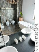 Купить «interior of bathroom», фото № 17861646, снято 21 февраля 2019 г. (c) easy Fotostock / Фотобанк Лори