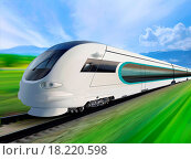Купить «super streamlined train», фото № 18220598, снято 21 августа 2018 г. (c) easy Fotostock / Фотобанк Лори
