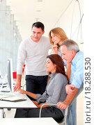 Купить «Group of people in business training», фото № 18288530, снято 19 сентября 2018 г. (c) easy Fotostock / Фотобанк Лори
