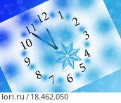 Новогодние часы. Стоковая иллюстрация, иллюстратор Юлия Цигун / Фотобанк Лори