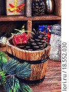 Купить «Christmas composition with tree», фото № 18552030, снято 24 мая 2019 г. (c) PantherMedia / Фотобанк Лори